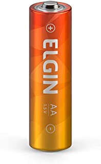 Kit Pilhas Comuns Zinco Carvão AA Tubo com 60 Shrincado de 4 em 4, Elgin, Baterias