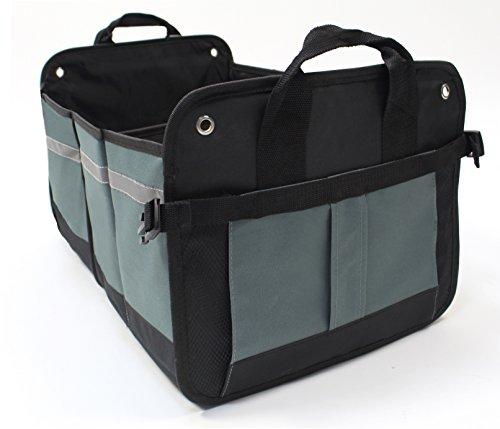 LK Baby Car Trunk Storage Organizer Best for SUV Jeep RV Minivan Truck Bed Organization Universal Multi Use Auto Cargo Bin Foldable Collapsible in Black