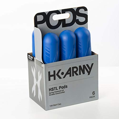 HK Army HSTL 150 Round Paintball Pods - 6 Pack (Blue)