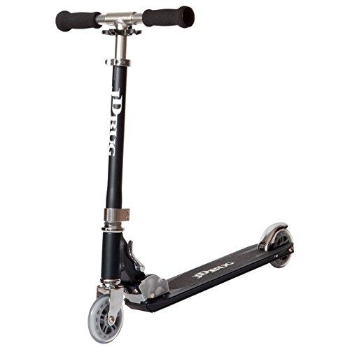 JD Bug - Original Strassen Cityroller Tretroller Scooter - Matt Schwarz
