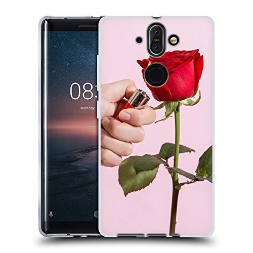 Ufficiale Pepino De Mar Rose Designs Assortiti Cover in Morbido Gel Compatibile con Nokia 8 Sirocco