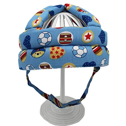 SHARRA Casco Protector para bebés Gorra Protectora Ajustable para bebés Protección para la Cabeza para niños pequeños Sombrero Protector Algodón Casco para Escalar y Aprender a Caminar
