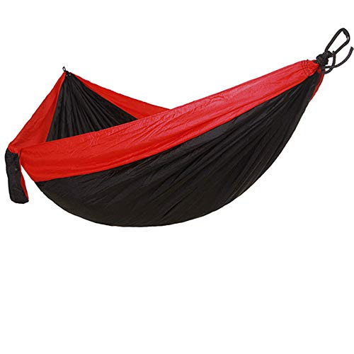 Hammock Camping Double,Hammock,Travel Parachute Hammock Indoor Outdoor Double Hammock,Beach,Backyard,Patio,Hiking (Black,270140CM)