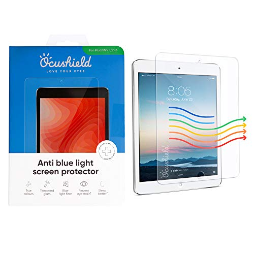 Great Price! Ocushield Anti Blue Light, Tempered Glass Screen Protector for Apple iPad Mini 1/2/3 -P...