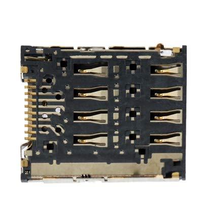 EASON Espacio -Mobile Teléfono Tarjeta SIM Slot + Conector de Tarjeta SIM para HTC G25 Bandeja