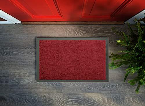 Flori – Felpudo lavable, antideslizante, fácil de limpiar, alfombra de entrada, alfombra de cocina, para interior y exterior (lila, 40 x 60 cm)