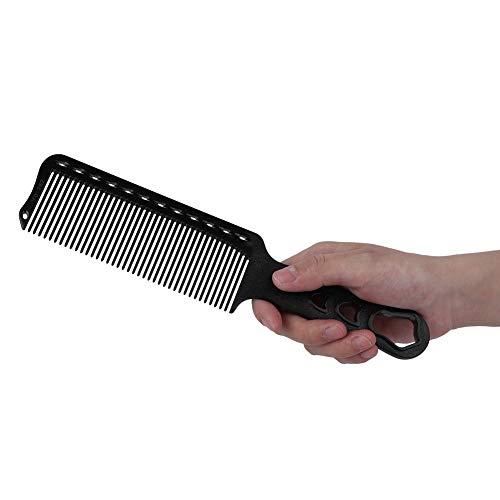 Peigne de barbérologie, peigne de coupe, ABS résistant à la chaleur anti-dérapant Anti-Corrosion Super mince pour couper les cheveux à usage professionnel(black)