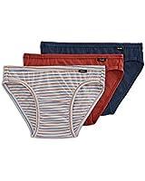 Jockey Men's Underwear Elance Bikini - 3 Pack, Blue Heather, S