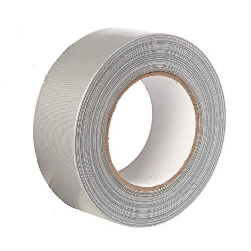 Gocableties - Nastro isolante telato di prima qualità, grigio, 48 mm x 50 m, resistente, con spessore di 1,8 mm