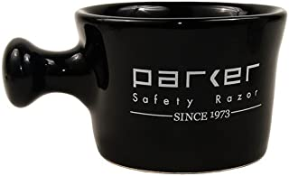 Parker's American Made Deluxe Stoneware Apothecary Style Shave Mug (Black)