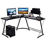 Nidouillet L Shaped Desk, 50.8' Corner Computer Desk, Modern Home Office Desk with Large Monitor Shelf and CPU Stand, Writing Workstation, Gaming Desk, Easy to Assemble, Space Saving AB199