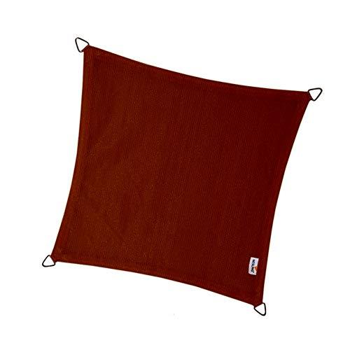 nesling Coolfit Voile D'ombrage (Carré 5,0m x 5,0m x 5,0m x 5,0m, Terracotta) Protection Solaire, Eau et Vent perméable, Protection UV