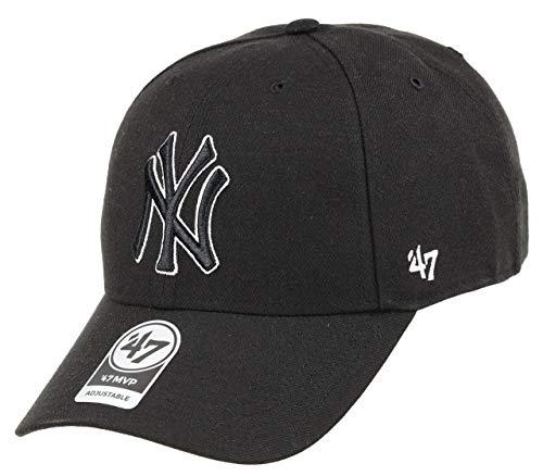 '47 New York Yankees Gorra, Negro (Black), (Talla del Fabricante: Talla única)...
