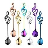 DZHTWSRYGR Ice Tea Spoon Musical Note Coffee Spoon Stainless Steel Tea Set Stirring Spoon Ice Cream Spoon