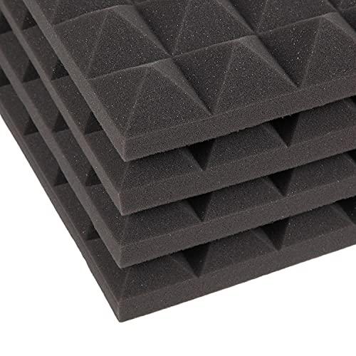 factus 吸音材 壁 ピラミッド 高密度 ウレタン 自宅録音 ライブ配信 テレワーク用 非圧縮 50×50×5cm 4枚 【即納 1-2営業日発送】
