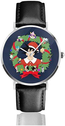 Unisex Business Casual Sensenmann mit Sanduhr Uhren Quarz Leder Uhr mit schwarzem Lederband für Männer Frauen Young Collection Geschenk