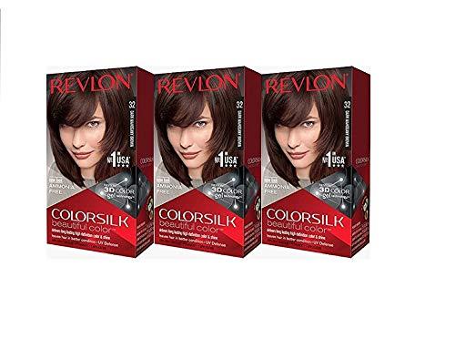 Revlon Colorsilk Beautiful Color, Dark Mahogany Brown, 3 Count Now $8.04 (Was $20.50)