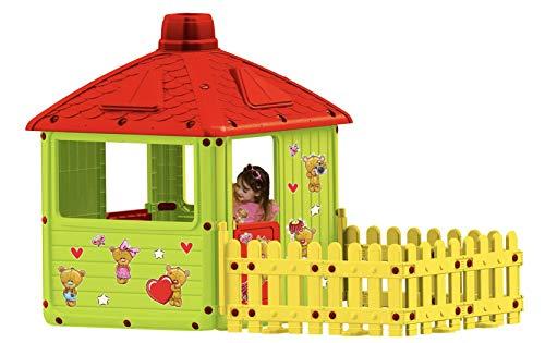 KenyToys Spielhaus Kinderspielhaus XXL mit Terrasse für Drinnen und Draußen