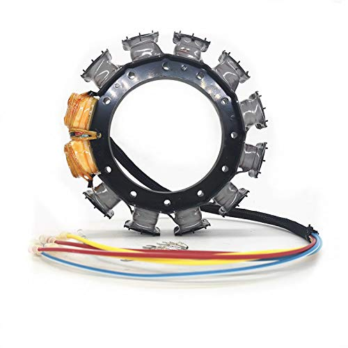 JETUNIT Stator For Mercury Mariner Outboard 16-Amp Assy Maganet Coil 40hp-125hp 2,3&4 Cylinder 2-Stroke 174-9710K1 398-818535A18 398-9710A28 398-9873A32 (1987-1999)