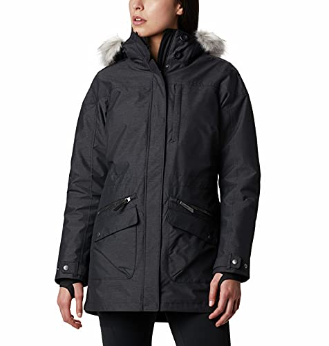 Columbia Chaqueta impermeable para mujer, Carson Pass IC Jacket, Nailon, Negro, Talla M, 1737241
