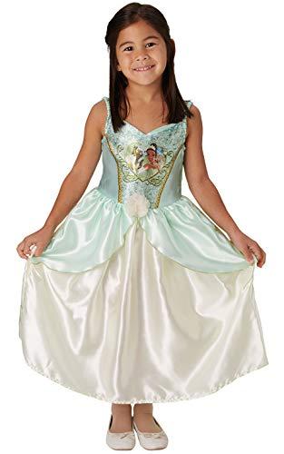 Rubie's Disfraz oficial de princesa tiana de Disney y la rana con lentejuelas, disfraz de niña