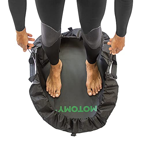 Wetsuit Changing Mat 'IslandMat' Surf Mat & Wetsuit Bag CompactFolding 2 IN 1 Design - WATERPROOF 5000X TECHNOLOGY Prevents Water Leaking Inside Your Car & Keep You & Your Surfing Accessories Clean