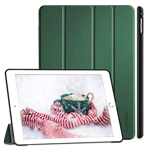 EasyAcc Case Compatible with iPad Air 2, Ultra Slim Cover Protective PU Leather Case with Stand Function/Auto Sleep Wake Up Function Compatible with iPad Air 2 2014 / iPad A1566/A1567 - Dark Green