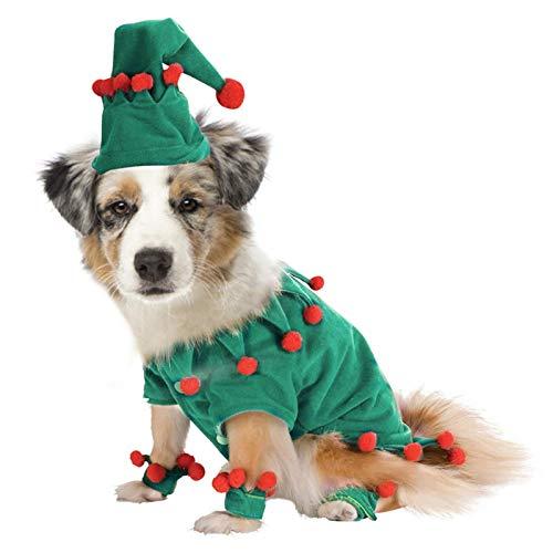 Disfraz de Pap Noel para perro, disfraz de gato, clido abrigo de invierno para mascotas