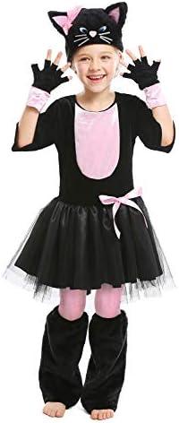 Cuteshower Halloween Cat Costume for Kid Animal Costume Cosplay 6 7 Years Black product image