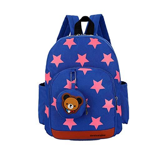 Mochilas Infantiles 3-7 Años, Mochila para Niña Niño Mochila Escolar Toddler Kids Bolsas Escolares Mochila Escolar Pequeños (Azul-1)