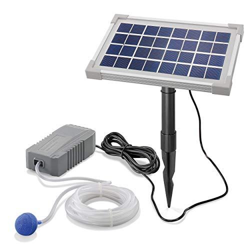 esotec Pro 101841 - Aeratore solare professionale per laghetti da giardino, 3,5 W, 130 l/h, modulo solare extra large per la migliore funzionalità, per la ventilazione del laghetto da giardino
