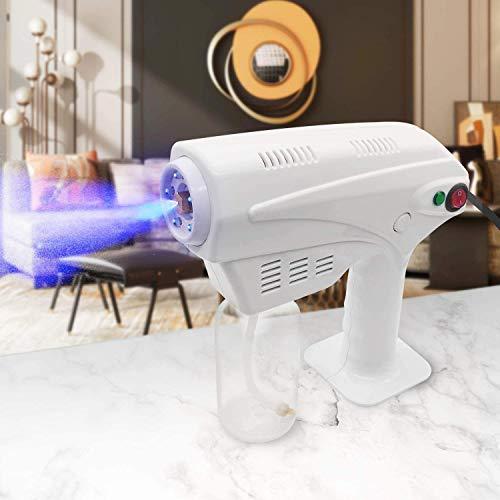 BATOWE Sprayer Nano Steam Gun, Spray Machine with Blue Light, Ultra Fine Aerosol Water Mist Trigger for Office, Home, Clothes, Vehicle