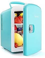 """AstroAI mini lodówka """"2 w 1"""", pojemność 4 litry, z funkcją chłodzenia i podgrzewania, zasilanie 12 V z zapalniczki samochodowej i gniazdko 230 V, do samochodów, biur i sypialni"""