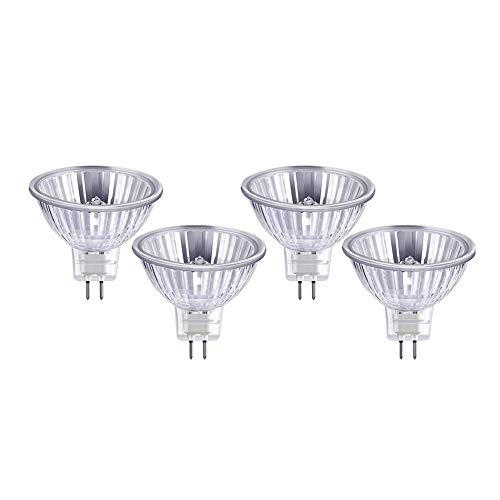 Reemplazo De HalóGeno LED Mr16 LáMpara De Base De Pasador LED HalóGena LED Bombilla LED Foco HalóGeno con Carcasa De LáMpara De Vidrio De Calidad ÁNgulo De Haz De 120º 35w,4pack