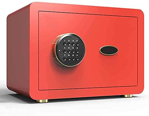 TOPNIU Caja de seguridad para el hogar con teclado, uno/pistola/efectivo/cerradura de joyería, apto para uso en hogares, hoteles, dormitorios y oficinas (color: rojo)