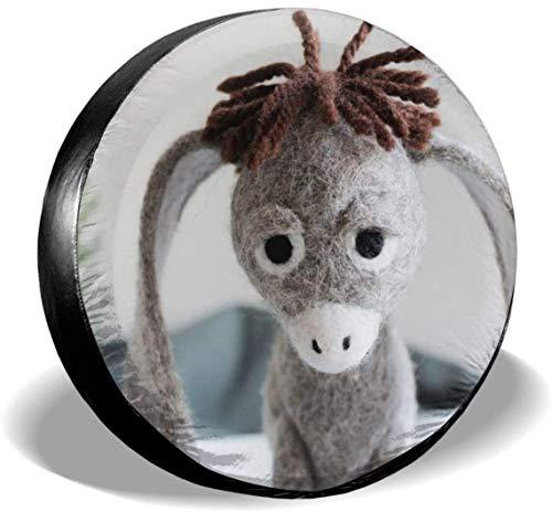 MODORSAN Cute Donkey - Cubierta de Rueda de Repuesto para neumáticos, Cubiertas de poliéster universales para Ruedas para Jeep, Remolque, RV, SUV, camión, Accesorios, 16 Pulgadas