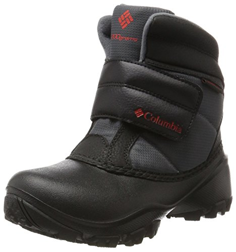 Columbia Unisex Youth Rope Tow Kruser Schneestiefel, Grau, Rot (Graphite, Bright Red), 36 EU