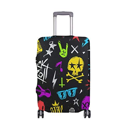 Skull Rock - Funda para equipaje de viaje de poliéster elástico para equipaje de 18 a 20 pulgadas Multicolor multicolor 22-24 inches