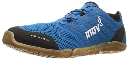Inov-8 Mens Bare-XF 210 V2 - Barefoot Minimalist Cross Training Shoes - Zero Drop - Wide Toe Box - Versatile Shoe for Powerlifting & Gym - Calisthenics & Martial Arts - Blue/Gum 9 M US