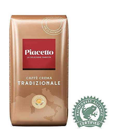 Piacetto Caffè Crema Tradizionale Kaffee, 1.000g | Ganze Bohne | Arabica-Robusta Mischung | Ideal für Vollautomaten | Einzigartige Piacetto-Kaffeequalität