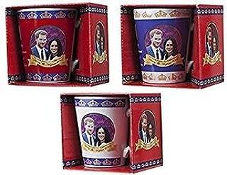 Toyland Pack of 4-2018 Royal Wedding V Shape Mug Set - Harry and Meghan Royal Wedding - Royal Wedding Memorabilia
