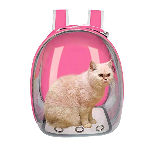 N\C Cat Carrier Bag Breathable Transparent Puppy Cat Backpack Cats Box Cage Small Dog Pet Travel Carrier Handbag Space Capsule