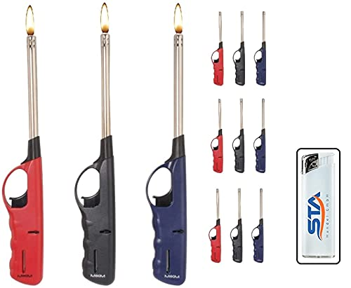 6 x Stabfeuerzeug 27 cm -V- Feuerzeug BBQ Feuerzeug Kamin Feuerzeug + 1 gratis Feuerzeug