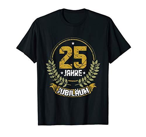 Herren 25 Jahre Firmenjubiläum Dienstjubiläum T-Shirt