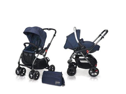Casualplay 805106B - Cochecito Avant + portabebés Sono + bolso Casual, color azul oscuro