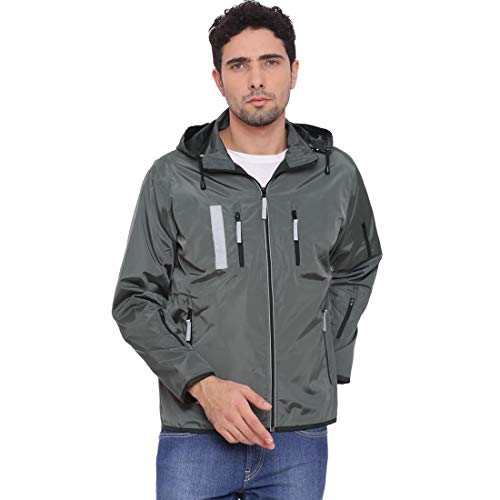 VERSATYL Men's Travel Jacket with 18 Pockets and 29 Features (Small, Grey and Black)
