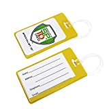 5 Pack - Slim and Sturdy Flexible Backpack & Airline Luggage ID Bag Tags - Business Card Holders - with Secure...