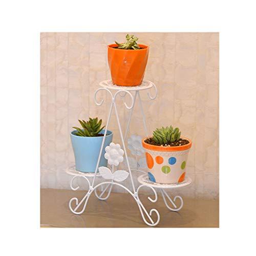 ZHEYANG Soporte para plantas de interior alto con 6 estantes para jardín, creativo y estable, para jardín, expone el paraíso de las plantas verdes, 30 cm, regalos para esposa (color: blanco)