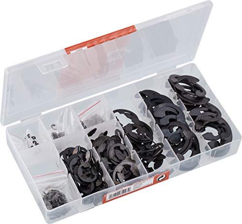 Werkzeyt Sicherungsringe-Sortiment 300-teilig - Innen - Diverse Größen im Set (1,5 - 22 mm) - Vorsortiert in praktischer Kunststoffbox / Innen-Seegering / Sortimentskasten / B34152