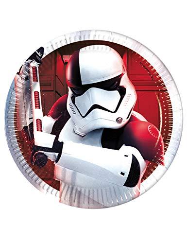 Procos - Assiette métallique 20 cm Star Wars Episode 8, multicolore, 5PR88549